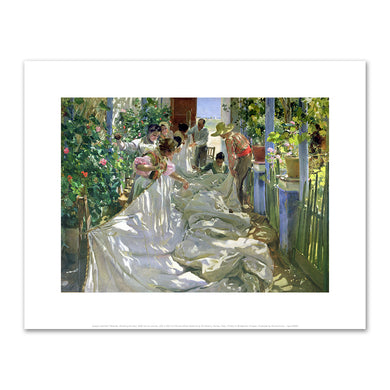 Joaquin Sorolla Y Bastida, Mending the Sail, 1896, Fine Art Prints in various sizes by Museums.Co