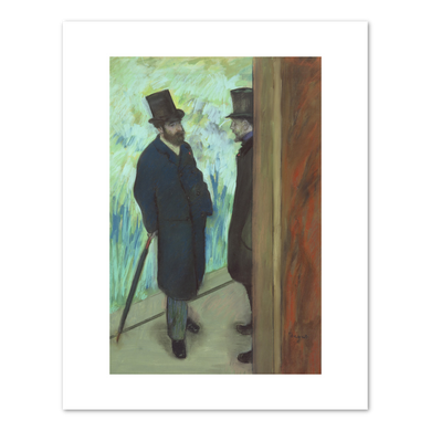 Edgar Degas, Friends at the Theatre, Ludovic Halevy (1834-1908) and Albert Cave (1832-1910), 1879, Fine Art Prints in various sizes by Museums.Co