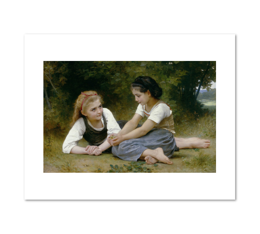 William Adolphe Bouguereau, The Nut Gatherers, Fine Art Prints in various sizes by Museums.Co