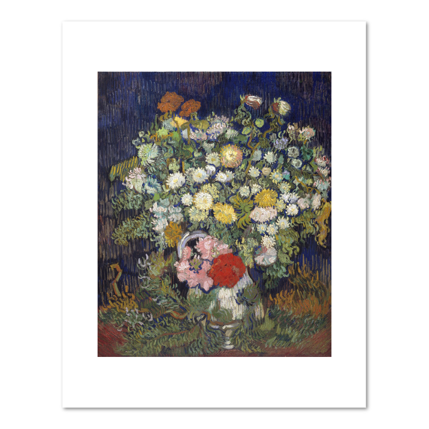 Vincent van Gogh, Bouquet of Flowers in a Vase, 1890, Fine Art Prints in various sizes by Museums.Co