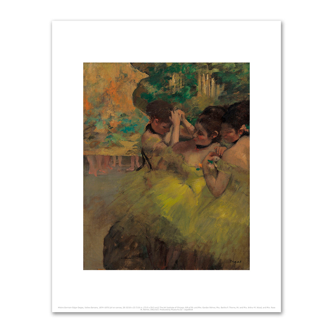Hilaire Germain Edgar Degas, Yellow Dancers, 1874–1876, The Art Institute of Chicago. Fine Art Prints in various sizes by Museums.Co