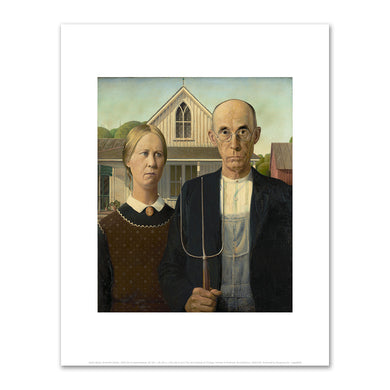 Grant Wood, American Gothic, 1930, The Art Institute of Chicago. Fine Art Prints in various sizes by Museums.Co