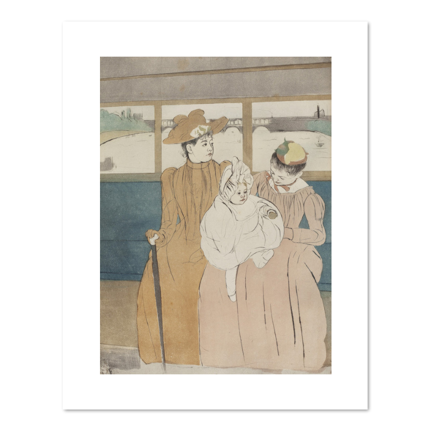 Mary Cassatt, In the Omnibus, 1890-1891, Fine Art Prints in various sizes by Museums.Co