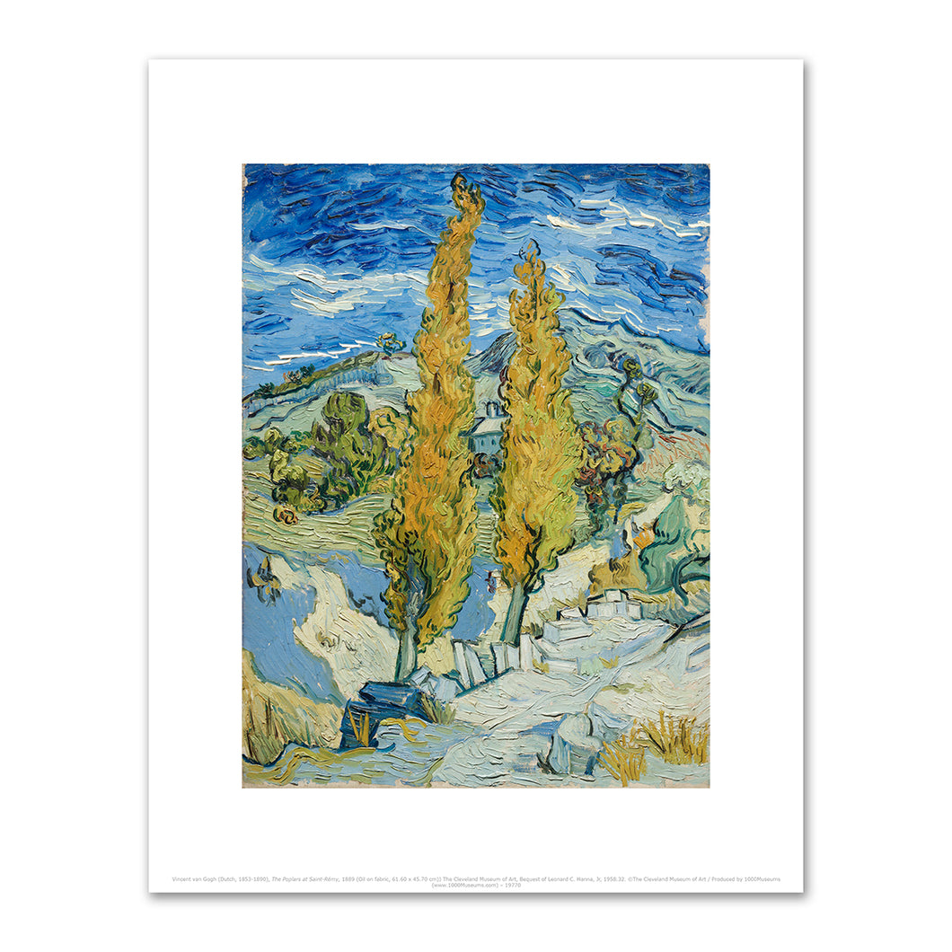 Vincent van Gogh, Two Poplars in the Alpilles near Saint-Rémy, 1889, The Cleveland Museum of Art. Fine Art Prints in various sizes by Museums.Co