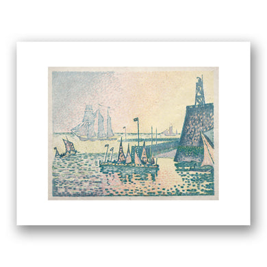 Paul Signac, Evening, The Jetty at Vlissingen, 1898, The Cleveland Museum of Art. Fine Art Prints in various sizes by Museums.Co