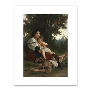 William-Adolphe Bouguereau, Rest, 1879, The Cleveland Museum of Art. Fine Art Prints in various sizes by Museums.Co