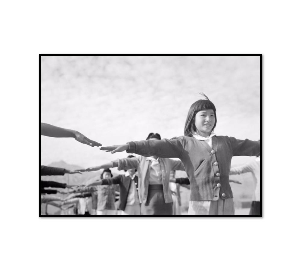 Female internees practicing calisthenics at Manzanar internment camp by Ansel Adams Artblock