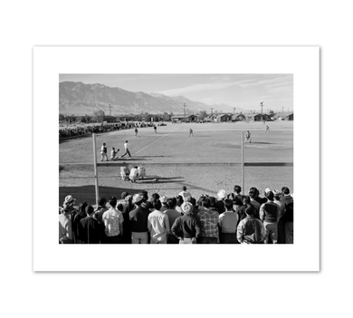Ansel Adams, Manzanar Baseball, Fine Art Prints in various sizes by Museums.Co