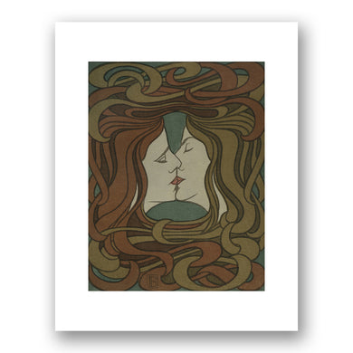 Peter Behrens, Ohne Titel (Der Kuss)/Untitled (The Kiss), 1898, Library of Congress. Fine Art Prints in various sizes by Museums.Co