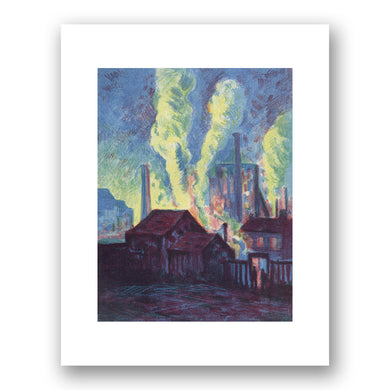 Maximilien Luce, Hochöfen/Blast Furnace, 1898, Courtesy of Denenberg Fine Arts. Fine Art Prints in various sizes by Museums.Co
