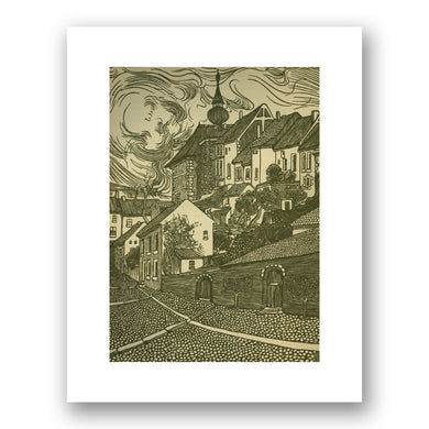 Jacob Gerard Veldheer, Ohne Titel (Kleinstadt) Untitled (Small Town), 1895, Courtesy of Denenberg Fine Arts. Fine Art Prints in various sizes by Museums.Co
