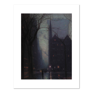 Birge Harrison, Fifth Avenue at Twilight, Fine Art Prints in various sizes by Museums.Co