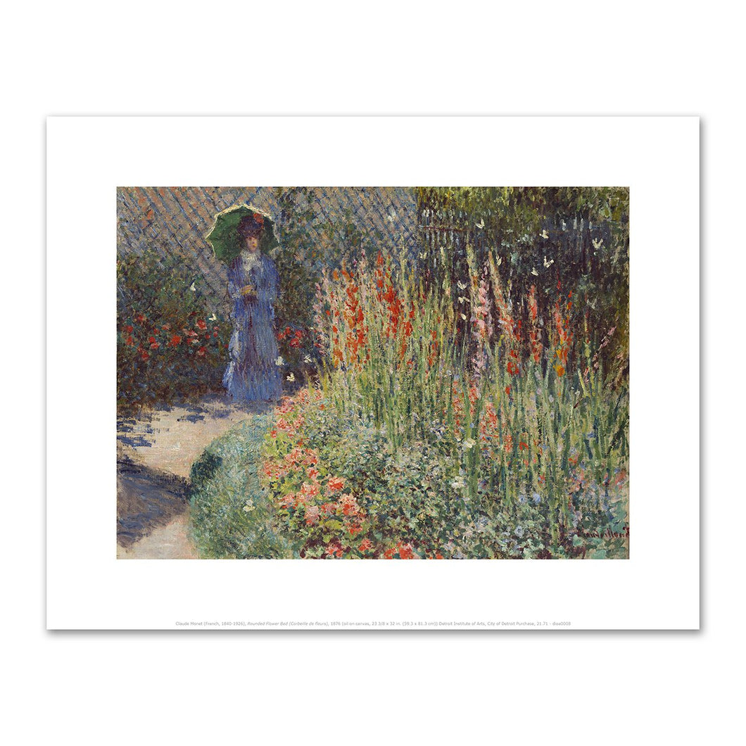 Claude Monet, Rounded Flower Bed (Corbeille de fleurs), Fine Art Prints in various sizes by Museums.Co