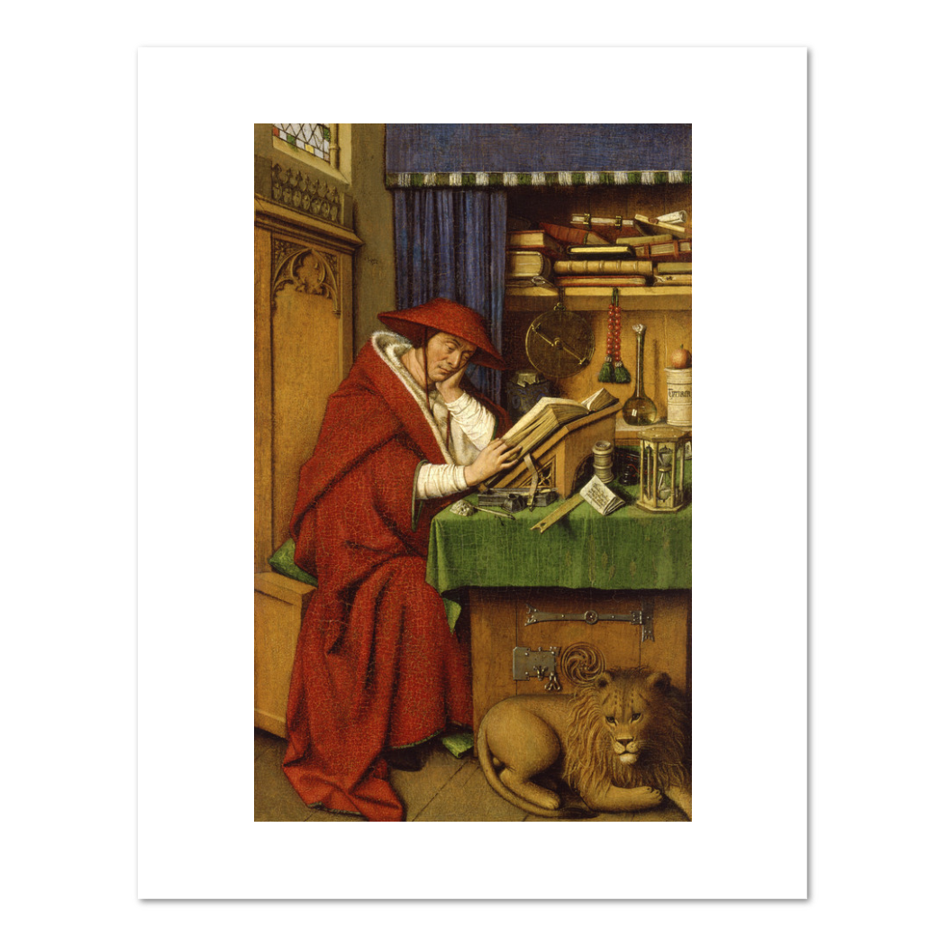 Jan van Eyck, Saint Jerome in His Study, Fine Art Prints in various sizes by Museums.Co