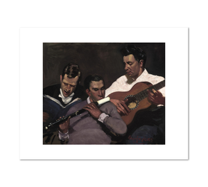 George Luks, Three Top Sergeants, Fine Art Prints in various sizes by Museums.Co