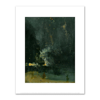 James Abbott McNeill Whistler, Nocturne in Black and Gold, the Falling Rocket, Fine Art Prints in various sizes by Museums.Co