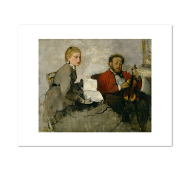 Edgar Degas, Violinist and Young Woman, ca. 1871, Fine Art Prints in various sizes from Museums.Co