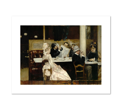 Henri Gervex, Cafe Scene in Paris, 1877, Fine Art Prints in various sizes by Museums.Co