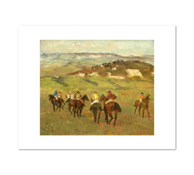 Edgar Degas, Jockeys on Horseback before Distant Hills, 1884, Fine Art Prints in various sizes from Museums.Co