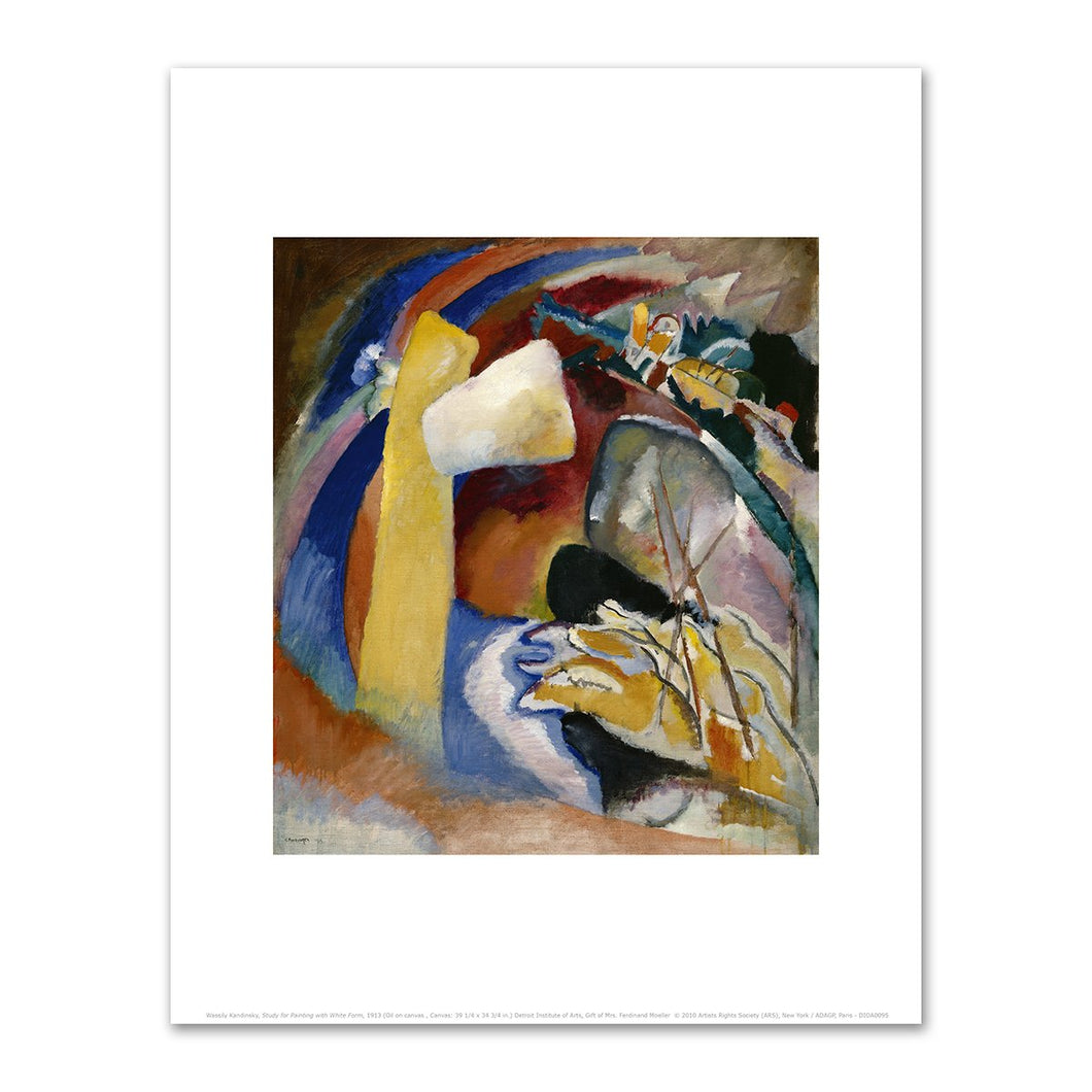 Wassily Kandinsky, Study for Painting with White Form, 1913, Fine Art Prints in various sizes by Museums.Co