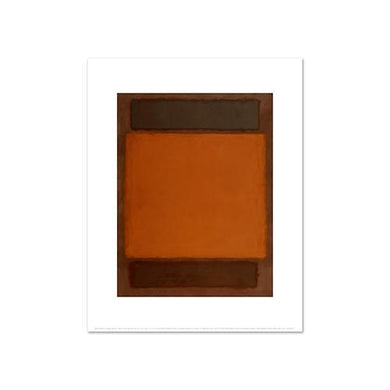 Mark Rothko, Orange, Brown, Fine Art Prints in various sizes by Museums.Co