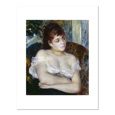 Pierre Auguste Renoir, Woman in an Armchair, 1874, Fine Art Prints in various sizes by Museums.Co