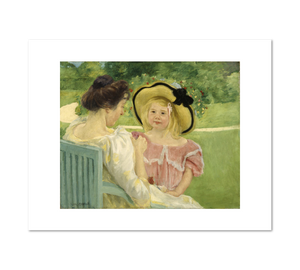 Mary Cassatt, In the Garden, Fine Art Prints in various sizes by Museums.Co