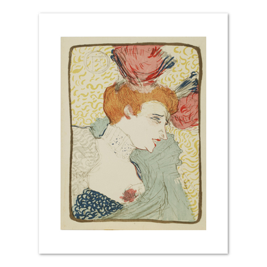 Henri de Toulouse-Lautrec, Bust of Miss Marcelle Lender, c. 1895, Private Collection, Amsterdam. Fine Art Prints in various sizes by Museums.Co