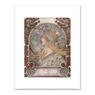 Alphonse Mucha, Zodiac, 1896, Fine Art Prints in various sizes by Museums.Co