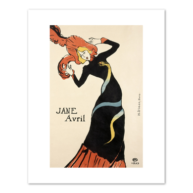 Henri de Toulouse-Lautrec, Jane Avril, 1899, Fine Art Prints in various sizes by Museums.Co