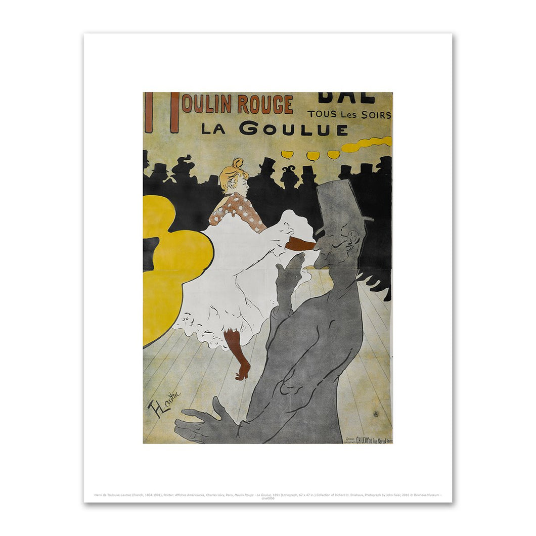 Henri de Toulouse-Lautrec, Moulin Rouge - La Goulue, 1891, Fine Art Prints in various sizes by Museums.Co