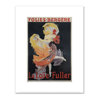 Jules Chéret, Folies-Bergère / La Loïe Fuller, 1893, Fine Art Prints in various sizes by Museums.Co
