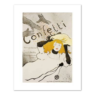 Henri de Toulouse-Lautrec (French, 1864-1901), Confetti, 1894, Fine Art Prints in various sizes by Museums.Co