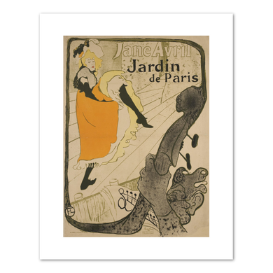 Henri de Toulouse-Lautrec (French, 1864-1901), Jane Avril, 1893, Fine Art Prints in various sizes by Museums.Co