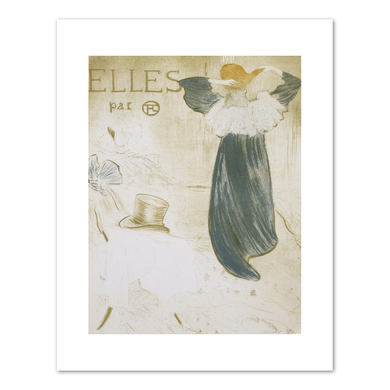 Henri de Toulouse-Lautrec (French, 1864-1901), Frontispiece, Elles, c. 1896, Fine Art Prints in various sizes by Museums.Co