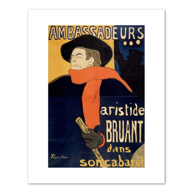 Henri de Toulouse-Lautrec (French, 1864-1901), Ambassadeurs, Aristide Bruant, 1892, Fine Art Prints in various sizes by Museums.Co