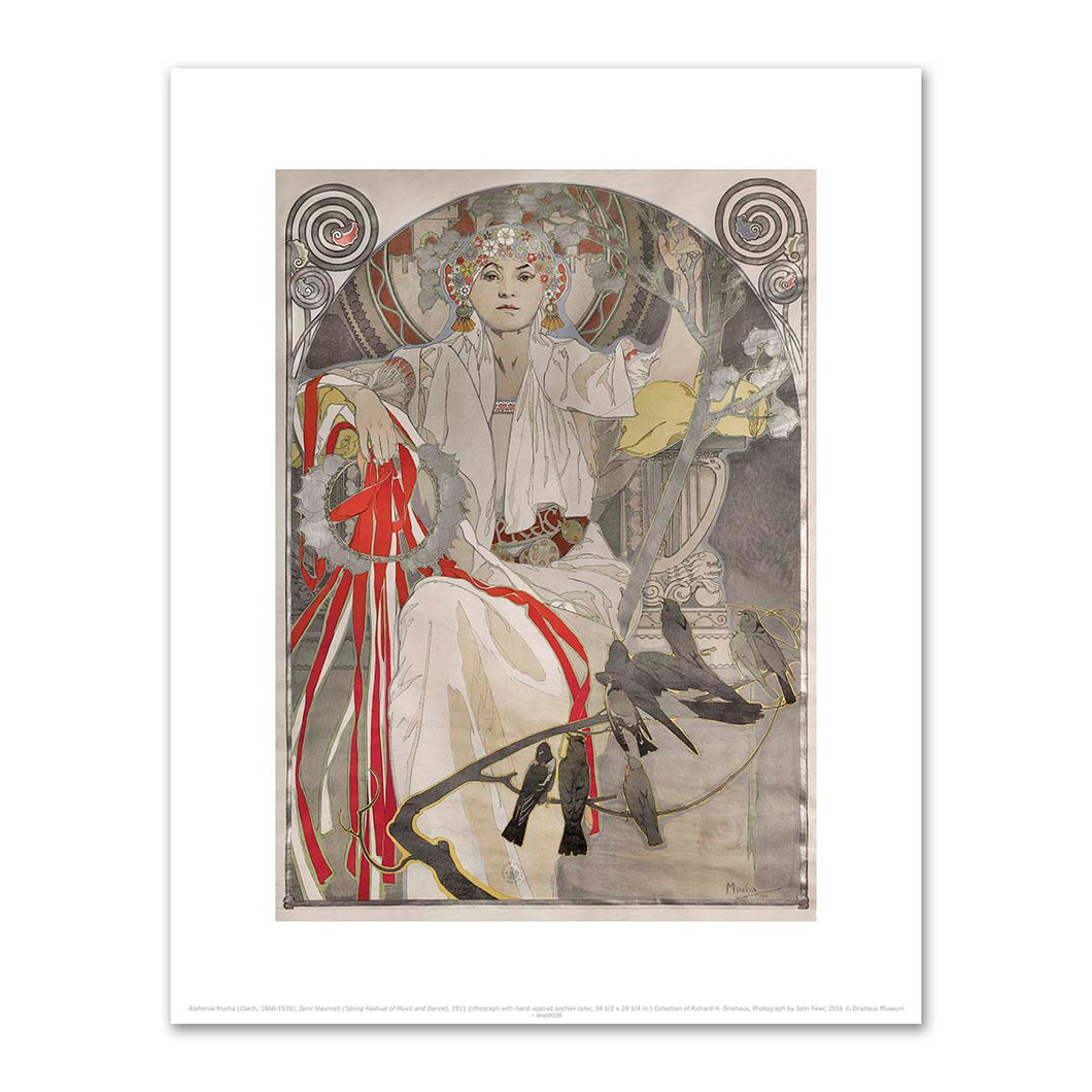 Alphonse Mucha, Jarni Slavnosti (Spring Festival of Music and Dance), 1911, Fine Art Prints in various sizes by Museum.Co