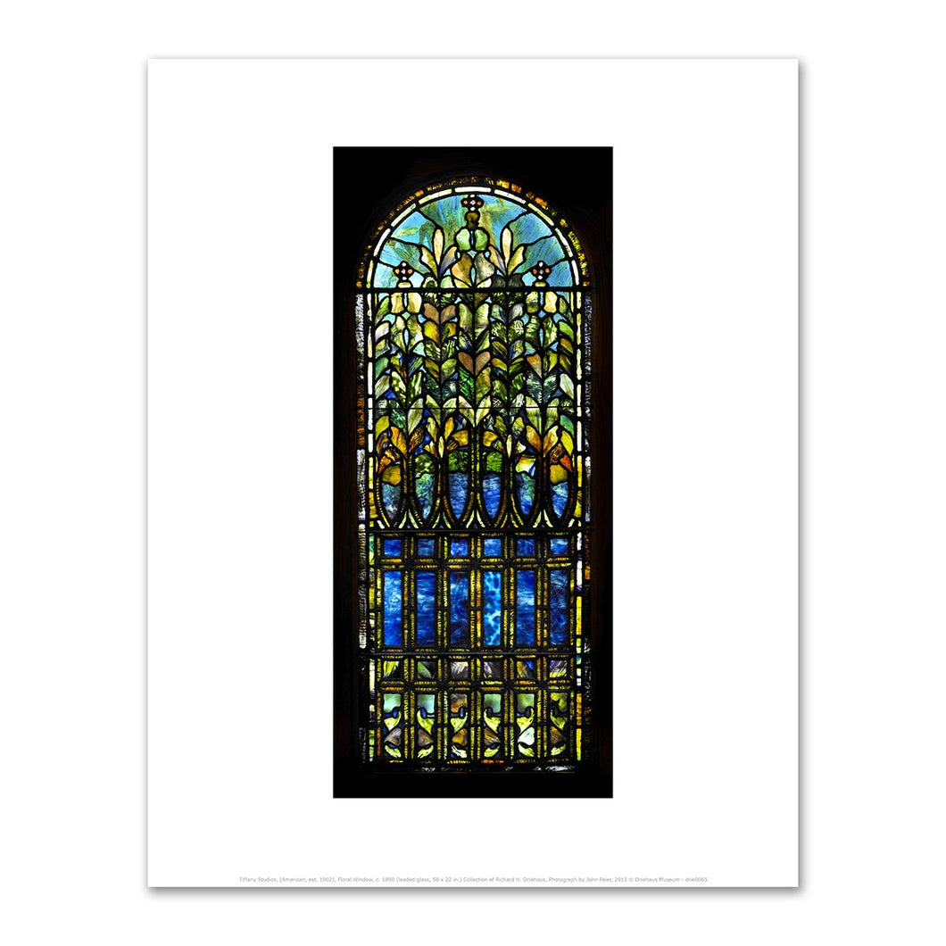 Tiffany Studios, Floral Window, c. 1890, Fine Art Prints in various sizes by Museums.Co