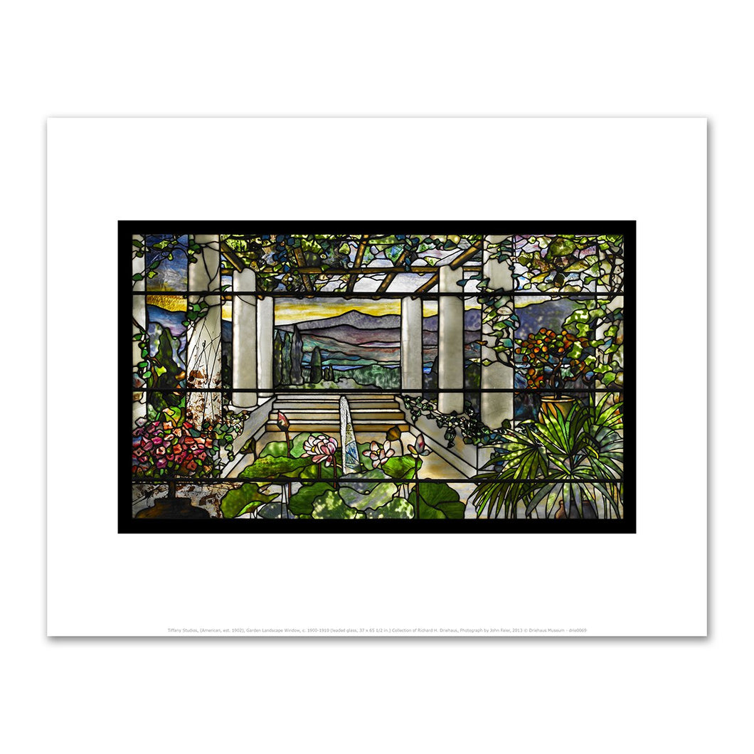 Tiffany Studios, (American, est. 1902), Garden Landscape Window, c. 1900-1910, Fine Art Prints in various sizes by Museums.Co