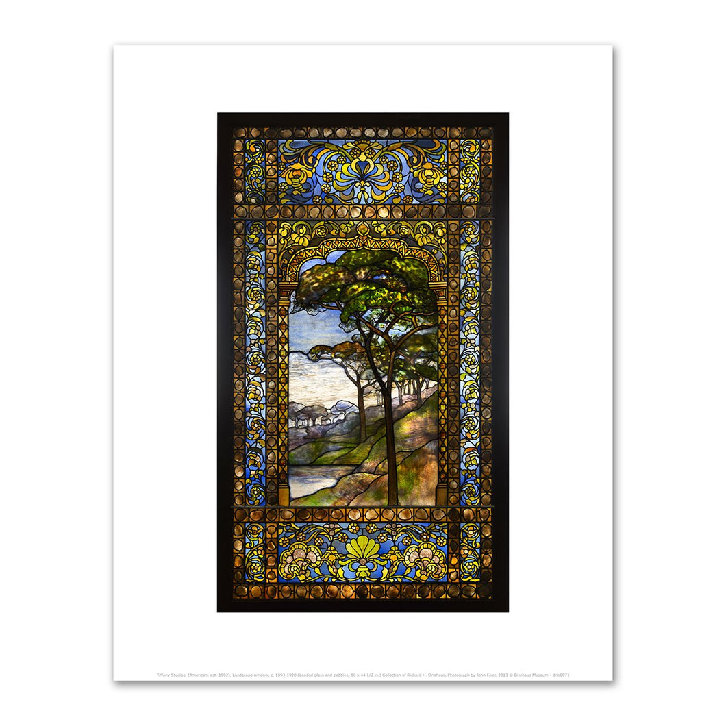 Tiffany Studios, Leaded Glass Window, c. 1895-1902, Fine Art Prints in various sizes by Museums.Co