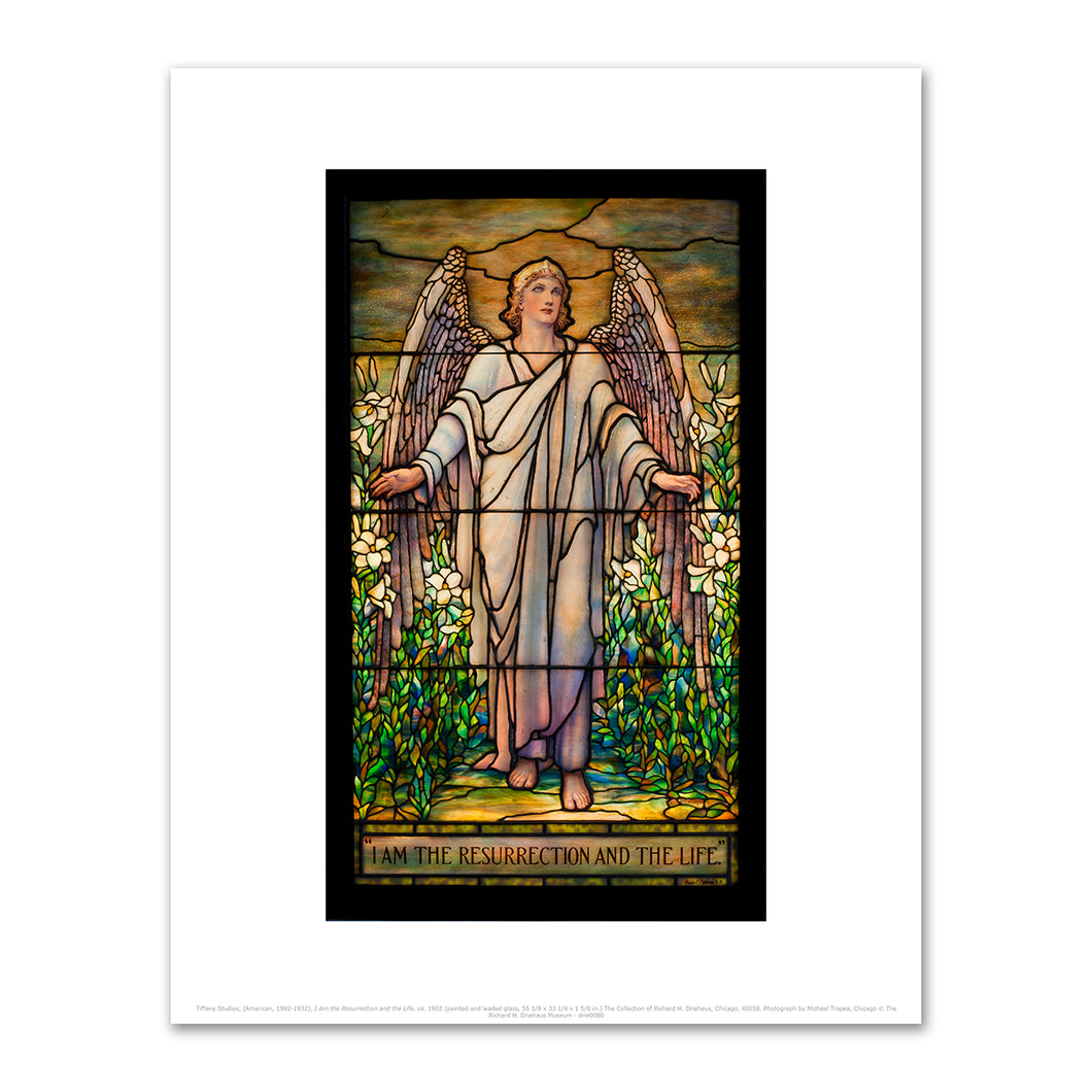 Tiffany Studios, (American, 1902-1932), I Am the Resurrection and the Life, ca. 1902, Fine Art Prints in various sizes by Museums.Co