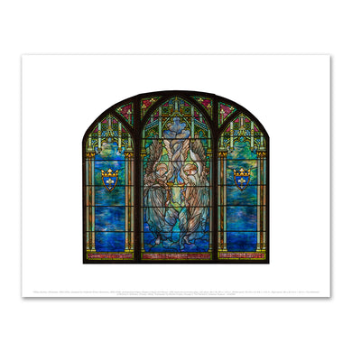 Tiffany Studios, (American, 1902-1932), Designed by Frederick Wilson (American, 1858-1938), Ecclesiastical Angels (Angels of Peace and Mercy), 1905, Fine Art Prints in various sizes by Museums.Co