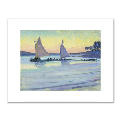 Jane Peterson, Boats on the Nile, Dawn, 1905–1915, Art Prints in 4 sizes by Museums.Co
