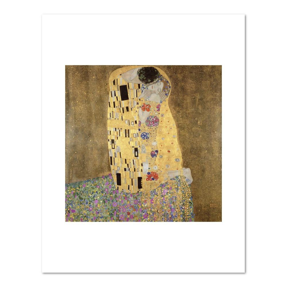 Gustav Klimt, The Kiss, 1907-1908, Fine Art Prints in various sizes by Museums.Co