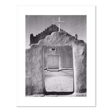 Ansel Adams, Church, Taos Pueblo, Fine Art Prints in various sizes by Museums.Co