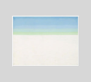 Sky with Flat White Cloud by Georgia O'Keeffe Artblock