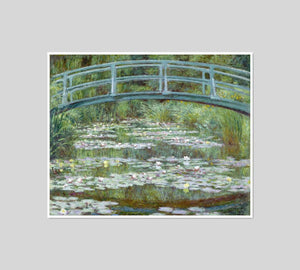 The Japanese Footbridge by Claude Monet Artblock