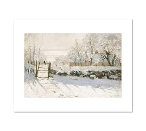 The Magpie by Claude Monet Archival Print