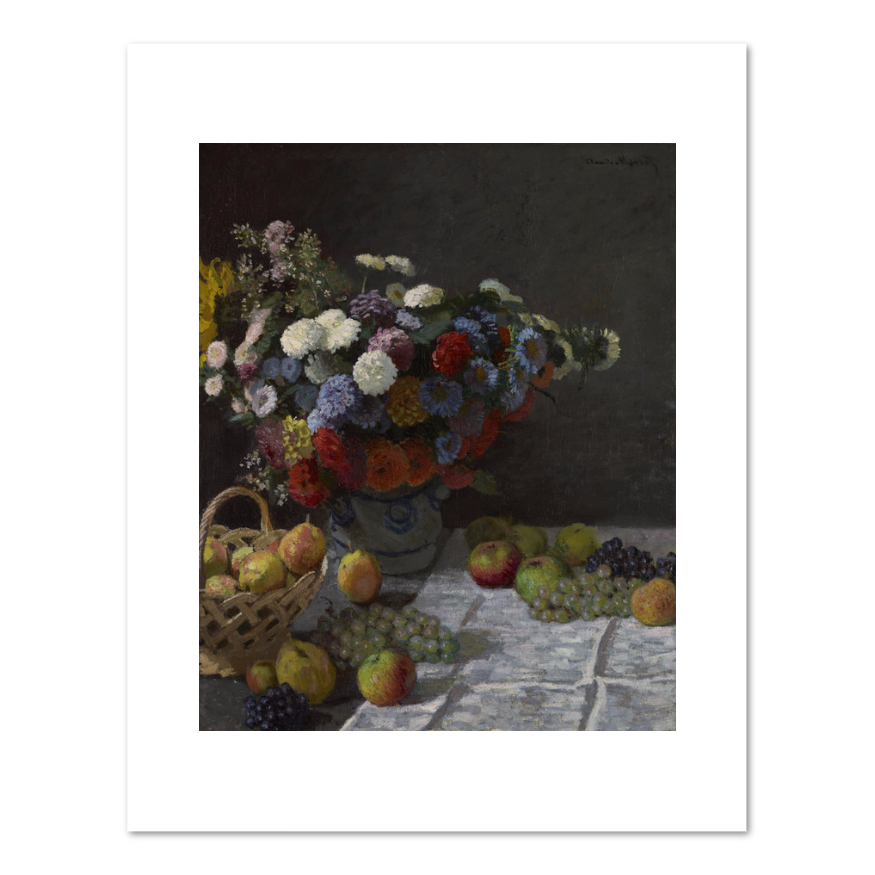 Still Life with Flowers and Fruit by Claude Monet Archival Print
