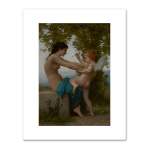 William-Adolphe Bouguereau, A Young Girl Defending Herself against Eros, Fine Art Prints in various sizes by Museums.Co